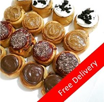 16 SMALL - VARIETY SCROLLS BOX (4 Nutella Banana, 4 Cookies & Cream, 4 Salted Caramel, 4 Red Velvet)