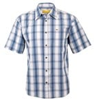 JMOA6308 S/S CHECK SHIRT - BLUE