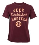 SJA6059- NINETEEN41 TEE- PORT RED