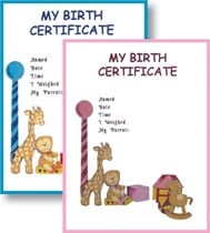 My Birth Certificate