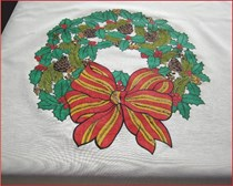 Wreath Coffee Cloth