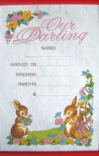 Our Darling Birth Certificate