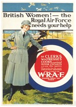BRITISH WOMEN! The Royal Air Force Needs Your Help First World War Propaganda Poster
