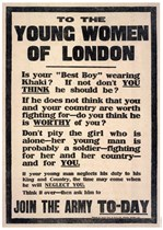 TO THE YOUNG WOMEN OF LONDON - First World War Propaganda Poster