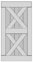 Double X-Brace Barn Door BD008-1020