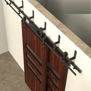 Bypass Sliding Barn Door track brackets