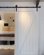 Z-Brace White Barn Door BD004White