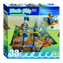 Pirate Ship Shaped Puzzle