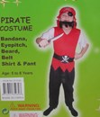 Pirate Dress Up Set - Ages: 5-8 years