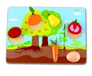 What Grows? Fruit & Vegetables Educational Wooden Puzzle