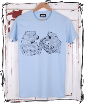 Wrestling Bears - Blue T-Shirt