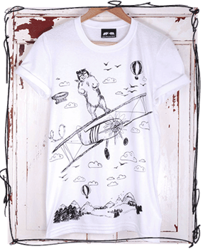 'Take Off' White T-Shirt