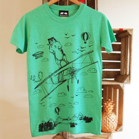 'Take Off' Green T-Shirt