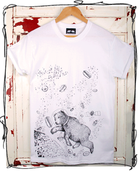Yum Yum Space: White T-Shirt