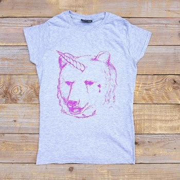 I Dream Of Unicorn - Women's - Grey Tee