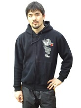 Hoodie Jacket - Wing Chun design with dragon, black