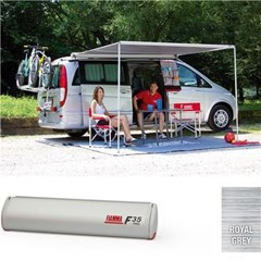 Fiamma F35 Pro awning, 270cm - Titanium case with a grey canopy