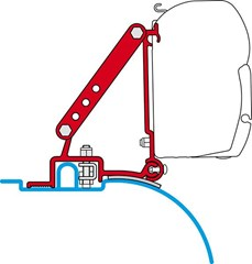 Fiamma F45 awning bracket - Fiat Ducato (high roof after 2006)