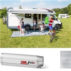 Fiamma F45 S awning. 450 cm - Titanium case with a Royal Grey canopy