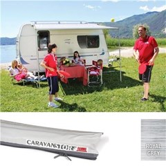 Fiamma Caravanstore 190cm Awning - Royal Grey canopy