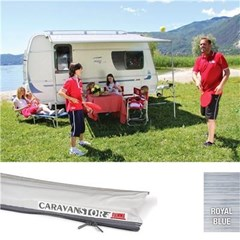 Fiamma Caravanstore 255 awning - Royal Blue Canopy