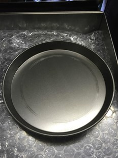 """5 X 14"""" IRON PIZZA PANS 1.5"""" FOR DEEP PAN PIZZA PROFESSIONAL QUALITY 5X14"""" PANS"""