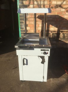 New Electric Chip Scuttle Free-standing Chip Dump With Cupboard