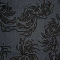 Japanese Indigo and Prints - Michael Miller Black Chrysanthemum