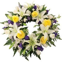Wreath With White & Purple Tones, From $100