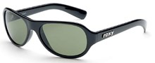 Roxy Concord Sunglasses: Black/Green Lens