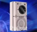 PULSET - 3 Flat Pin 15Amp Double Pole Combination Switched Socket - IP66 Rated IPCO1PH15