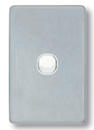 Clipsal 1 brushed Aluminium cover (Classic Series) C2031CBA