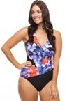 Capriosca - Orchid Print X Over 1 piece - Sizes 10, 12, 18, 20 & 24
