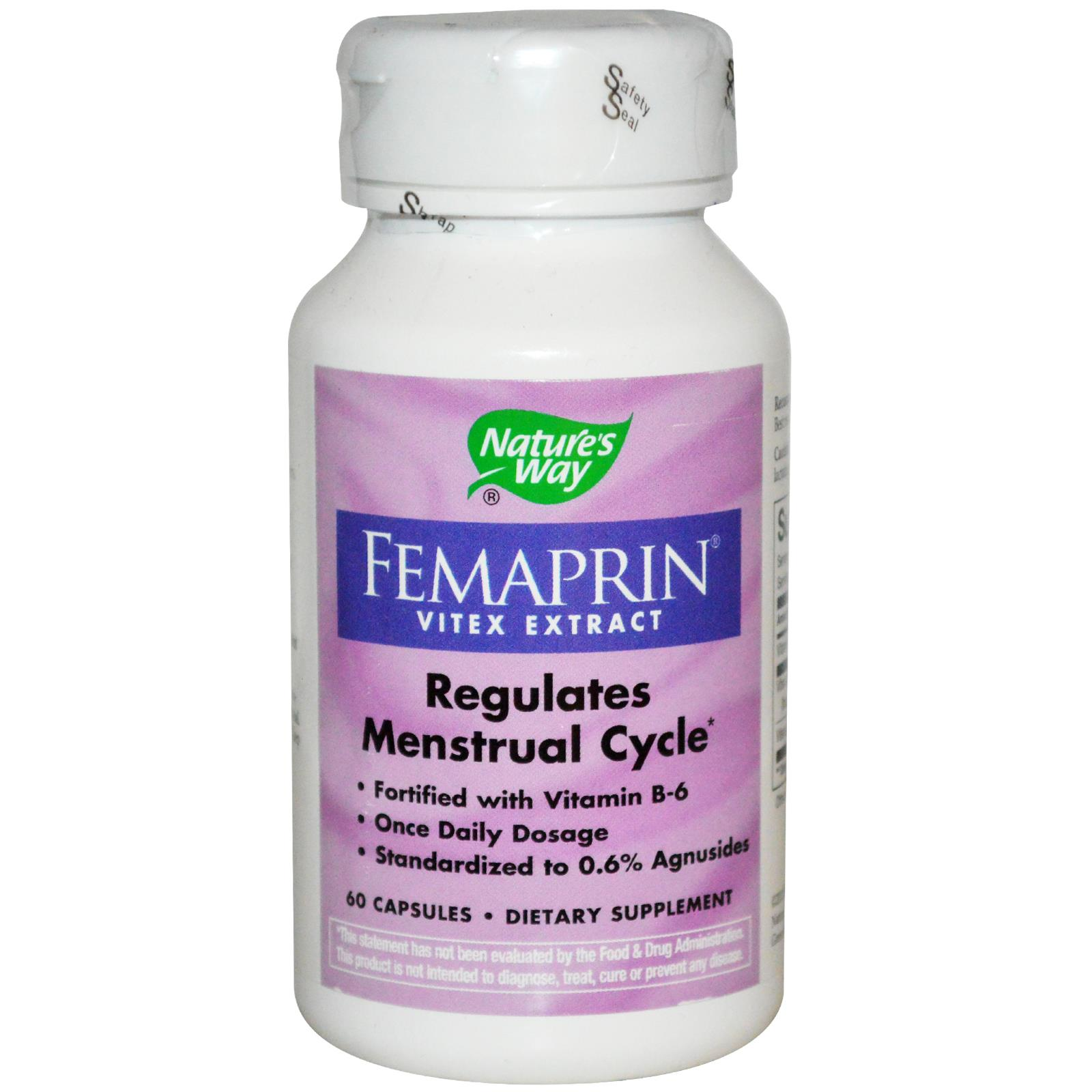 Nature S Way Femaprin Vitex Extract 60 Capsules