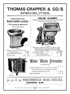 Thomas Crapper & Co. A5 Metal Wall Sign