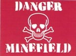 Danger Minefield - Metal Wall Sign (3 sizes)