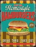 NEW IN.. Hamburgers -  Metal Wall Sign (3 sizes)