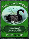The Black Swan Pub Sign -  Metal Wall Sign (2 sizes)