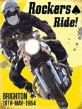 NEW IN.. Rockers Ride -  Metal Wall Sign (3 sizes)