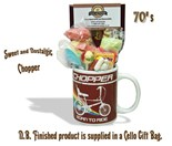 NEW IN Raleigh Chopper Mug with/without  70's retro sweeties.