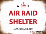 Air Raid Shelter  - A3 Metal Sign