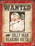 NEW IN.. Wanted Santa -  Metal Wall Sign (3 sizes)