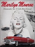 Marilyn Monroe -Diamonds are Forever - Metal Wall Sign (2 sizes)