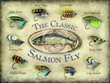 Classic Salmon Fly  - Metal Wall Sign (2 sizes)
