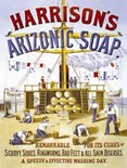 Harrisons Soap  A3 Tin Sign