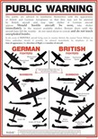 World War II Aircraft Identification Poster A3