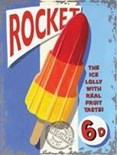 Rocket Lolly - A3 Metal Wall Sign