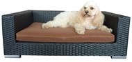 Indoor/Outdoor Rattan Dog Lounge