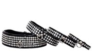 Black with Clear Swarovski Crystal Dog Collar