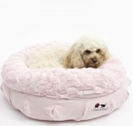 Luxe Coco Puff Dog Bed (Pink)